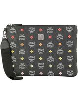 MCM Unisex Street Style Bag in Bag Leather Clutches
