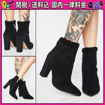 DOLLS KILL Casual Style Plain Chunky Heels Ankle & Booties Boots