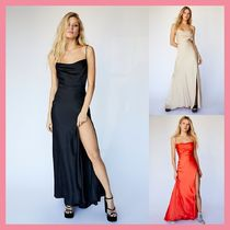 Free People Maxi Sleeveless Plain Long Party Style Dresses