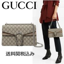 GUCCI Dionysus Canvas Plain Elegant Style Shoulder Bags