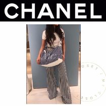 CHANEL DEAUVILLE Casual Style Blended Fabrics Street Style 2WAY Plain