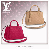 Louis Vuitton MONTAIGNE Monogram 2WAY Leather Office Style Handbags