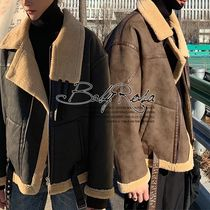 Short Faux Fur Plain Coats