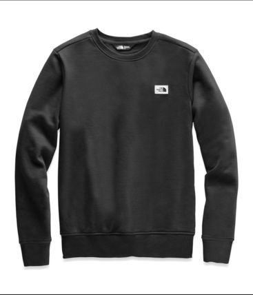 THE NORTH FACE Sweatshirts Crew Neck Pullovers Long Sleeves Plain Cotton Khaki 2