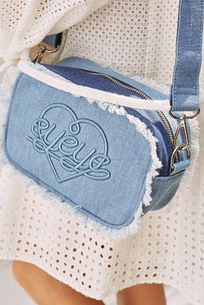Heart Casual Style Street Style Plain Fringes Shoulder Bags