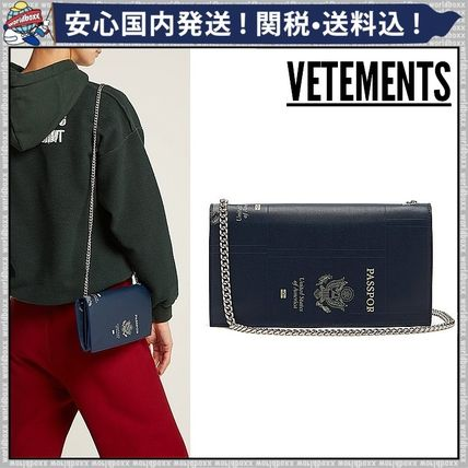 Casual Style 3WAY Chain Plain Leather Shoulder Bags