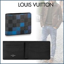 Louis Vuitton DAMIER GRAPHITE Other Check Patterns Canvas Street Style Bi-color