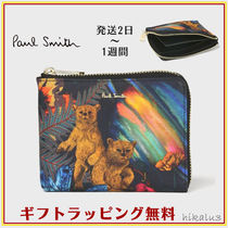 Paul Smith Unisex Other Animal Patterns Leather Folding Wallets