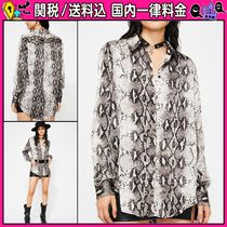 DOLLS KILL Casual Style Long Sleeves Python Shirts & Blouses