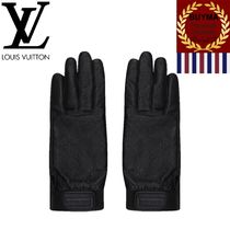 Louis Vuitton MONOGRAM Monogram Unisex Plain Leather Leather & Faux Leather Gloves