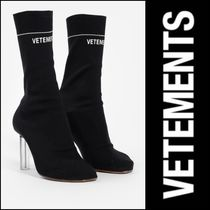 VETEMENTS Round Toe Street Style Plain High Heel Boots