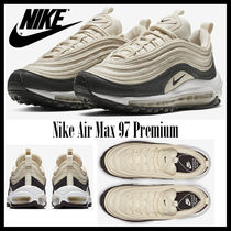 Nike AIR MAX 97 Stripes Rubber Sole Casual Style Unisex Street Style
