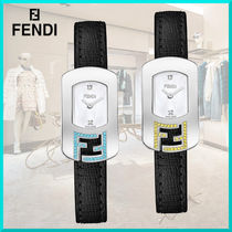 FENDI CHAMELEON Square Quartz Watches Stainless Elegant Style Analog Watches