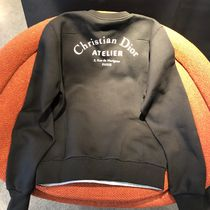 Christian Dior Crew Neck Pullovers Street Style Long Sleeves Plain