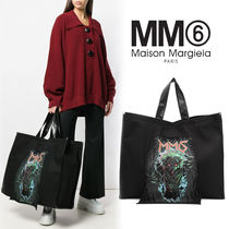 MM6 Maison Margiela Casual Style Canvas Blended Fabrics A4 Other Animal Patterns