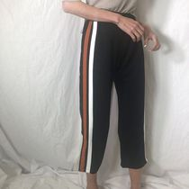 Casual Style Street Style Bi-color Medium Wide Leg Pants