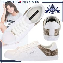 Tommy Hilfiger Round Toe Rubber Sole Lace-up Casual Style Faux Fur Plain