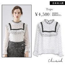 Chicwish Heart Long Sleeves Shirts & Blouses