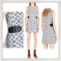 Louis Vuitton MONOGRAM Monogram A-line Sleeveless Elegant Style Dresses