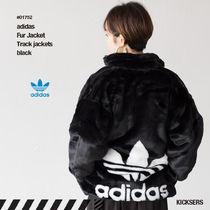 adidas Casual Style Unisex Faux Fur Street Style Oversized Jackets