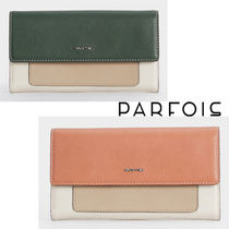 PARFOIS Faux Fur Plain Long Wallets