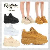 Buffalo LONDON Casual Style Street Style Plain Leather Low-Top Sneakers