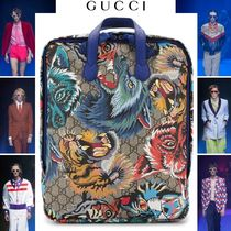 GUCCI Monogram Street Style Other Animal Patterns Backpacks