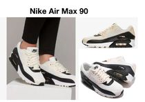 Nike AIR MAX 90 Casual Style Unisex Bi-color Low-Top Sneakers