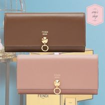 FENDI BY THE WAY Calfskin Studded Plain Long Wallets
