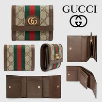 GUCCI Ophidia Canvas Folding Wallets