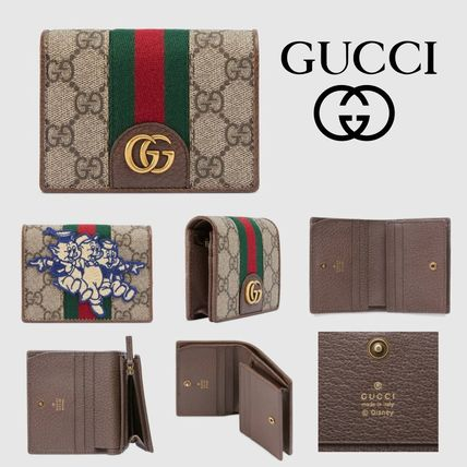 the latest 0b402 94353 GUCCI 2019 SS Canvas Card Holders (557801 9U8KT 8748)