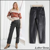 & Other Stories Casual Style Plain Leather Leather & Faux Leather Pants