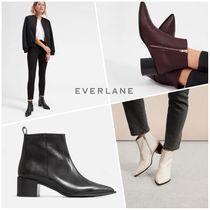 Everlane Casual Style Plain Leather Ankle & Booties Boots