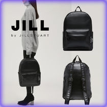 JILLSTUART Unisex A4 Plain Backpacks