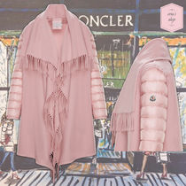 MONCLER Wool Blended Fabrics Plain Ponchos & Capes