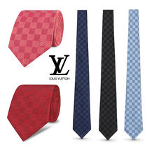 Louis Vuitton DAMIER Other Check Patterns Silk Ties