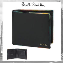 Paul Smith Stripes Leather Folding Wallets