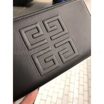 GIVENCHY Plain Leather Long Wallet  Logo Long Wallets