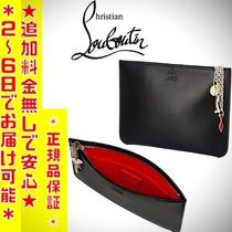 Christian Louboutin Unisex Calfskin Street Style Clutches