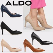 ALDO Plain Leather Pin Heels Elegant Style