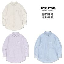 SCULPTOR Stripes Street Style Long Sleeves Shirts & Blouses