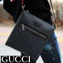 GUCCI GG Supreme Unisex Canvas Street Style Messenger & Shoulder Bags