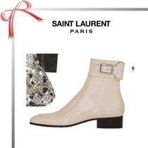 Saint Laurent Plain Elegant Style Ankle & Booties Boots