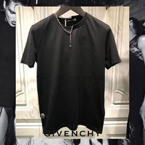 GIVENCHY Street Style Chain Plain Short Sleeves T-Shirts