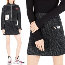 Louis Vuitton Pencil Skirts Short Cashmere Blended Fabrics Plain Skirts