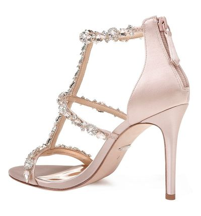 Open Toe Plain Pin Heels Party Style Heeled Sandals