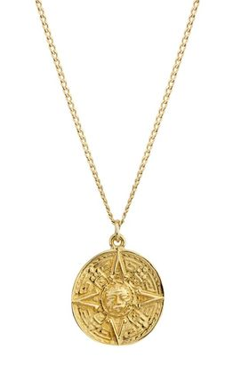 Casual Style Coin 14K Gold Necklaces & Pendants