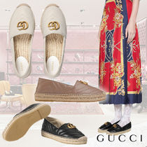 GUCCI Casual Style Plain Leather Slip-On Shoes
