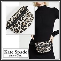 kate spade new york Leopard Patterns Casual Style Shoulder Bags