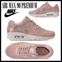 Nike AIR MAX 90 Rubber Sole Casual Style Unisex Street Style